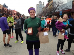 Baker City Turkey Trot - 5k Walk Run - 2014 1st Place Female
